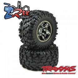 Ruedas X-Maxx pegadas Ensambladas Traxxas X-Maxx TRA7772A Cromo Negro