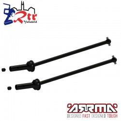 Conjunto de ejes de transmisión con copas 124mm CVC Arrma AR220030