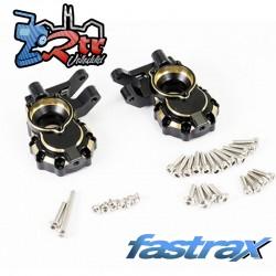 Nudillos de dirección delanteros Fastrax TRX-4 Latón BK