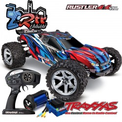 Traxxas Rustler VXL 4x4 Brushless TSM Truggy Azul RTR