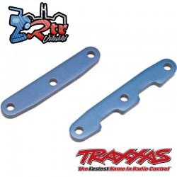 Barras de unión de mamparo, delanteras y traseras, aluminio azul Traxxas TRA6823