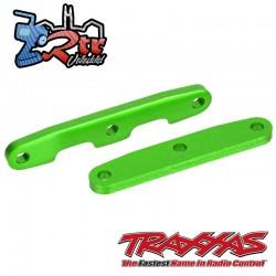 Barras de unión de mamparo, delanteras y traseras, aluminio Verde Traxxas TRA6823G