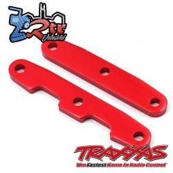 Barras de unión de mamparo, delanteras y traseras, aluminio Rojas Traxxas TRA6823R