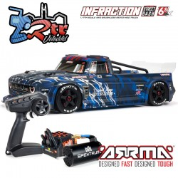 Arrma Infraction 1/7 Todos los caminos Brushless BLX 6s RTR Azul
