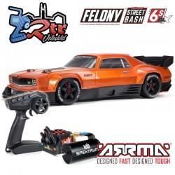 Arrma Felony 1/7 Todos los caminos Muscle Car Brushless BLX 6s RTR Anaranjado