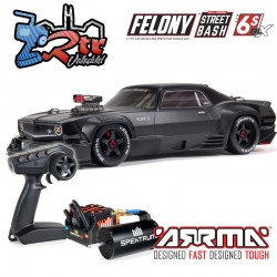 Arrma Felony 1/7 Todos los caminos Muscle Car Brushless BLX 6s RTR Negro