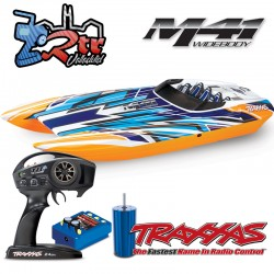 Traxxas M41 Catamaran TSM Brushless 6S Anaranjada