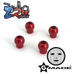 Bolas de aluminio Amortiguador 6.8x7.6 Rojas Gmade GM0020098