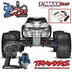 Traxxas Nitro T-Maxx 3.3 TQi TSM RTR 1/10 4wd Blanco