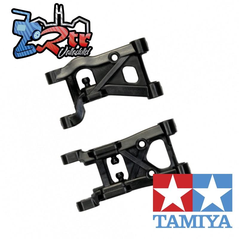 Piezas F de brazos de suspensión reforzados con carbono Tamiya para XV-01 / Pro 42352