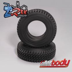 """Killerbody Scale Rubber Tire 3.35"""" con espumas 1/10 KB88691"""