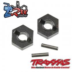 Hexágonos 12mm plásticos con pasador (2 unidades) Traxxas TRA1654