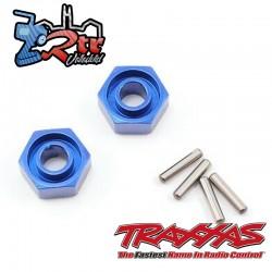 Hexágonos 12mm Aluminio con pasador (2 unidades) Traxxas TRA1654X