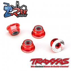 Tuercas de seguridad 4mm Aluminio Rojo Traxxas TRA1747A