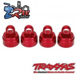 Tapones de Amortiguador aluminio Rojo Traxxas TRA3767X