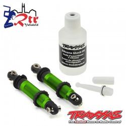 Amortiguadores Traxxas GTS Aluminio Verde Cortos TRX-4 TRA8260G