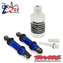 Amortiguadores Traxxas GTS Aluminio Azul Cortos TRX-4 TRA8260A