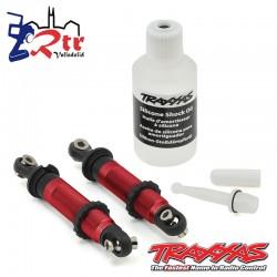 Amortiguadores Traxxas GTS Aluminio Rojo Cortos TRX-4 TRA8260R