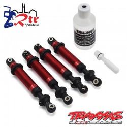 Amortiguadores Traxxas GTS Aluminio Rojo TRX-4 TRA8160R