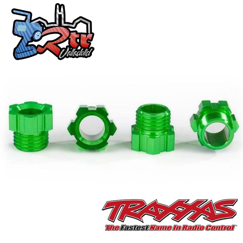 Tuerca de eje corto Traxx Traxxas Aluminio Verde TRA8886G