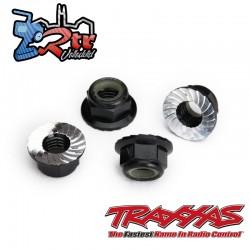 Tuerca de seguridad 5mm dentada Aluminio Negro Traxxas TRA8447A