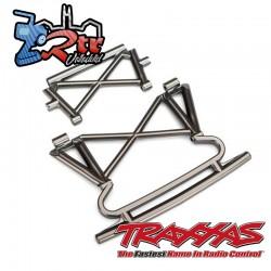 Parachoques y soporte delantero cromo Traxxas UDR TRA8535X
