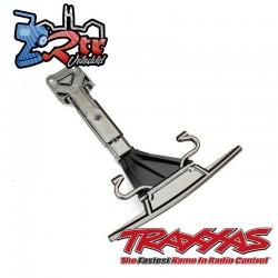 Placa de soporte y proteccionismo delantera Cromo Traxxas UDR TRA8537