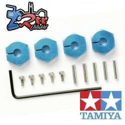 Cubos de rueda hexagonos 12mm con pasadores Tamiya 53823