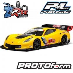 Carrocería transparente Corvette C7.R 1/8 PR1546-40 Protoform