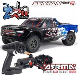 Arrma Senton 1/10 Camioneta 4wd V3 Brushless BLX-3s RTR Azul