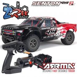 Arrma Senton 1/10 Camioneta 4wd V3 Brushless BLX-3s RTR Rojo