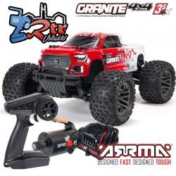 Arrma Granite 1/10 Monster truck 4wd Brushless BLX-3s RTR Rojo