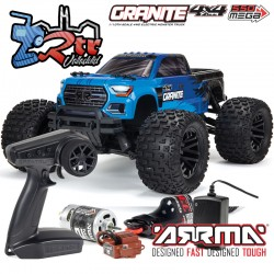 Arrma Granite Mega V3 1/10 Monster 4wd Escobillas RTR Azul