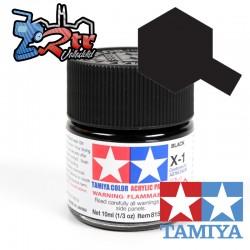 X-1 Pintura Acrilica Negro Brillante 10Ml Tamiya