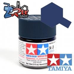 X-3 Pintura Acrilica Azul real brillante 10Ml Tamiya