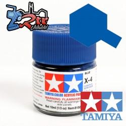 X-4 Pintura Acrílica Azul brillante 10Ml Tamiya