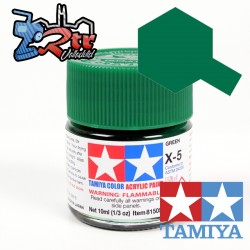 X-5 Pintura Acrílica Verde brillante 10Ml Tamiya