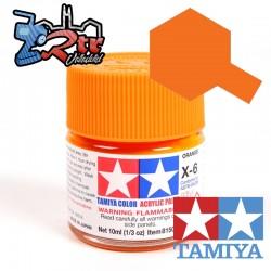 X-6 Pintura Acrílica Naranja brillante 10Ml Tamiya