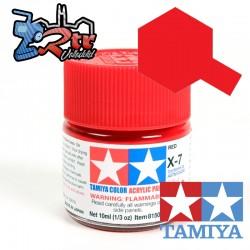 X-7 Pintura Acrílica Rojo brillante 10Ml Tamiya