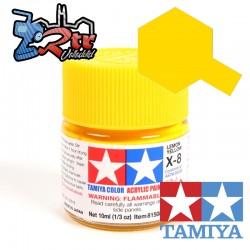 X-8 Pintura Acrílica Amarillo Limon brillante 10Ml Tamiya