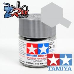X-11 Pintura Acrílica Cromo Plateado brillante brillante 10Ml Tamiya