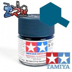 X-13 Pintura Acrílica Azul Meralicó brillante brillante 10Ml Tamiya