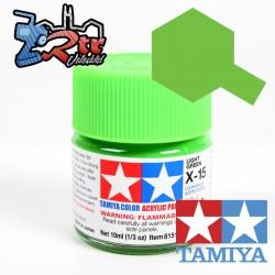 X-15 Pintura Acrílica Verde Palido brillante brillante 10Ml Tamiya