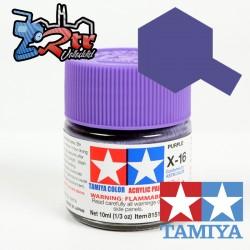 X-16 Pintura Acrílica Violeta brillante brillante 10Ml Tamiya