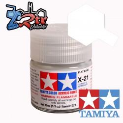 X-21 Pintura Acrílica Base Mate 10Ml Tamiya
