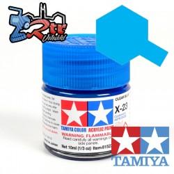 X-23 Pintura Acrílica Azul Translucido 10Ml Tamiya