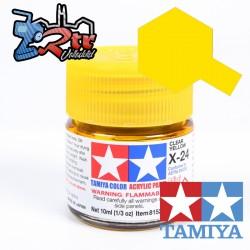 X-24 Pintura Acrílica Amarillo Translucido 10Ml Tamiya