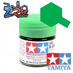 X-25 Pintura Acrílica Verde Translucido 10Ml Tamiya