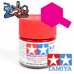 X-27 Pintura Acrílica Rojo Translucido 10Ml Tamiya