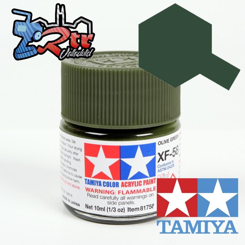 XF-58 Pintura Verde Olica Oscuro Mate 10Ml Tamiya